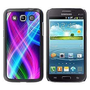 LECELL -- Funda protectora / Cubierta / Piel For Samsung Galaxy Win I8550 I8552 Grand Quattro -- Abstract Color Spirals --