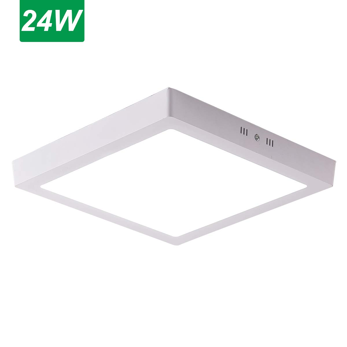 Jaycomey 24W Square Super Bright LED Flush Mounted Ceiling Light Fixtures,Surface Mounted Ceiling Light for Bathroom,Kitchen,Balcony,Garage,Dining Room,Non-Dimmable,Cool White,11.8 Inches