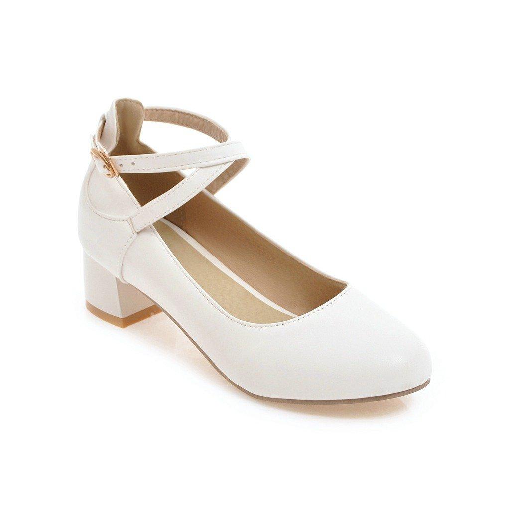 LSM-Talons MEI&S Femmes Casual Chaussures Chaussures Bouche Peu Profonde à Plat, Rouge, 33