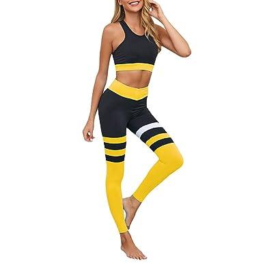 Mxssi Ropa de Entrenamiento para Mujer Conjunto de Yoga ...