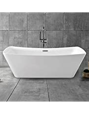 67 In Freestanding Bathtub - Acrylic Pure White (D-PW-4777)