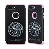 Official HBO Game Of Thrones Sigils - Targaryen Silver Various Designs Light Pink Guardian Case for Apple iPhone 7 Plus / iPhone 8 Plus