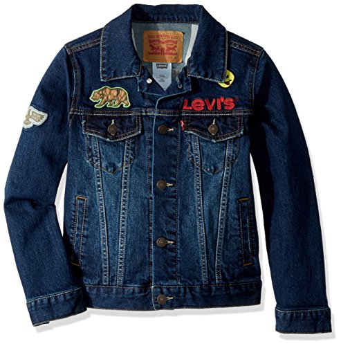 Levi's Boys' Big Denim Trucker Jacket, Stormy River, L (Leather Jacket Boys 8 20)