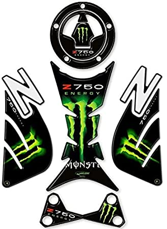 Set de im/ágenes Resina 3D EX-Z750/Compatible para Moto Kawasaki Z 750/de 2007/Verde