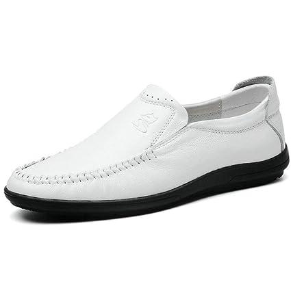 YAN Zapatos de los Hombres Mocasines de Cuero y Slip-Ons Antideslizantes Amortiguadores Zapatos de