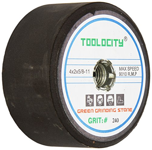 Toolocity GSB0240G 4-Inch Green Grinding Stone 240 Grit with 5/8-11 Thread by Toolocity