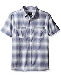 HUF Men's Ombre Plaid Short Sleeve Shirt