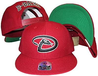 Arizona Diamondbacks Red Plastic Snapback Adjustable Plastic Snap Back Hat / Cap