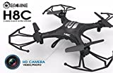 Eachine H8C Quadcopter With 2.0MP HD Camera 2.4G 6-Axis Headless Mode RC Quadcopter Drone RTF Mode 2 (Black)