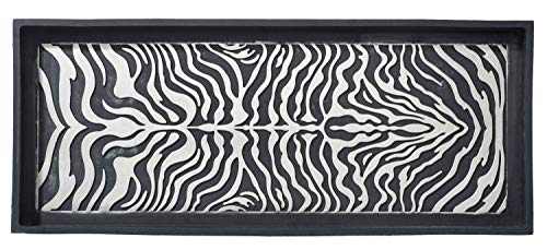 HF by LT Zebra Design Deluxe Rubber Boot Tray, 34