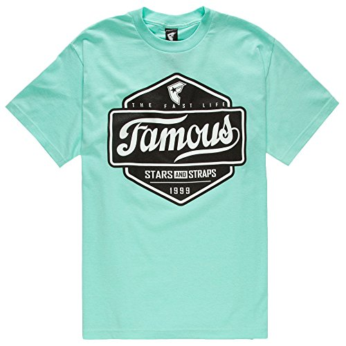 FAMOUS STARS & STRAPS Top Choice Mens T-Shirt, Mint, X-Large