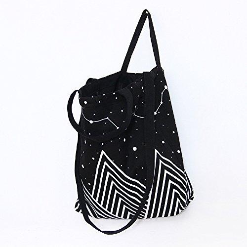 Canvas Tote Bag Black Print Design (16.14 x 15.35 inch) ASAPS  17fd8419a9e52