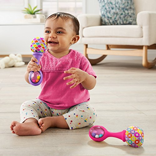51A sKWIQGL - Fisher-Price Rattle 'n Rock Maracas, Pink/Purple