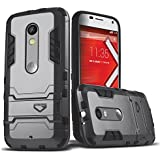Moto X Play Case, CASEFORMERS Ultra Slim Moto X Play Armor Case for Motorola X Play [Shockproof Case] - Cement Gray
