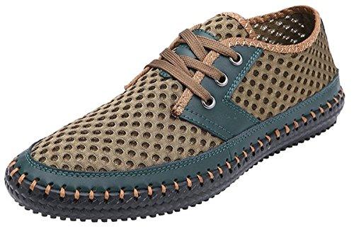 XIN BARLEY Männer Poseidon Slip-On Loafers Wasser Schuhe Casual Wanderschuhe Grün