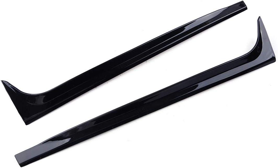 LETAOSK 2pcs Black Rear Window Side Spoilers Canards Splitter Fit For VW Polo MK5 2011-2017