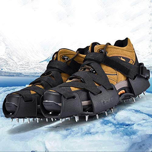 (Kneeslegs Walk Traction Ice Cleat,Stabilicers Walk Traction Ice Cleat and Tread for Snow & Ice,Adjustable Straps, Suitable for Most People's Average Crampons,XL)