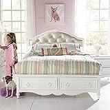 Samuel Lawrence Furniture SweetHeart Upholstered Bed in White - Full