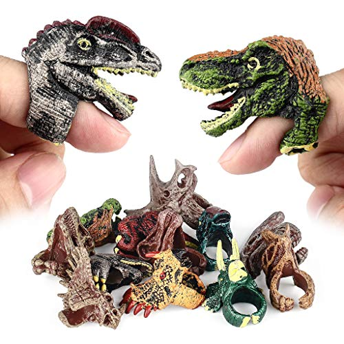 Dinosaur Rings Dino Birthday Party Favors Decoration Supplies for Kids Boys Girls,12Pcs