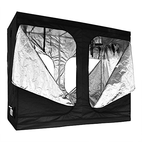 "51A uCLcOoL - LAGarden 96x48x78"" Hydroponics Grow Tent 100% Reflective Diamond Mylar Indoor Plant Growing Non Toxic Room w/ Window"