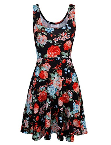 Crew Coolred Sleeveless Beach Dress Floral Pattern36 Neck Mid Fashion Wear Women gEgnqr4