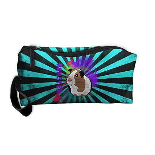 Funny Hamster Watercolor Multi-functional Cosmetic Makeup Bag Zipper Closure Bags Toiletries Organizer Bag -