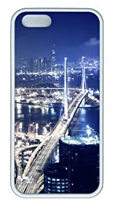 Apple iPhone 5S Cases - Hong Kong at night TPU Case Cover for iPhone 5S and iPhone 5 - White
