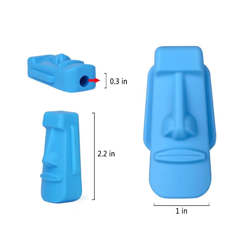 ADHD Dsaren 3 Pcs L/ápiz Topper Segura Silicona Juguetes de Terapia Chewy Tubes para Beb/és o Autismo Necesidades Especiales Silicona Mordedor