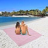 ZKF Magic Beach Mat Large Picnic Blanket Sand Free Sandless Camping Garden Rug New (pink)