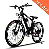 Electric Mountain Bike E Bicycle, E-bikes with Large Capacity Lithium-Ion...