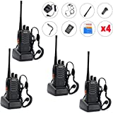 Guestway Baofeng Amateur Radio Handset Portable BF-888S UHF 400-470 MHZ 5W CTCSS for Guard Communications (Pack of 4PCS)