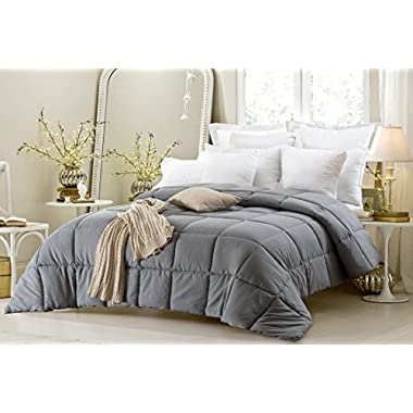 Super Oversized - High Quality - Down Alternative Comforter - Fits Pillow Top Beds - King 110  x 96  - Gray - Exclusively by BlowOut Bedding RN #142035