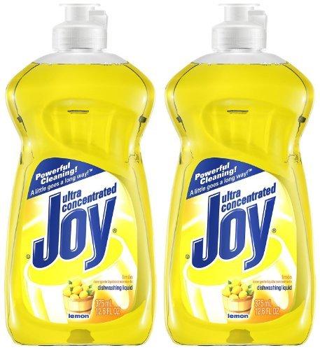 Joy Ultra Dishwashing Liquid, Lemon Scent, 12.6oz, 2pk
