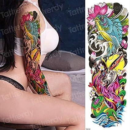 4 UNIDS, tatuaje temporal mangas del brazo tatoo para los hombres ...