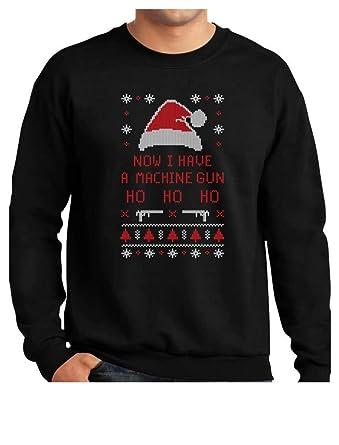 Amazoncom Now I Have A Machine Gun Ho Ho Ho Ugly Christmas Sweater