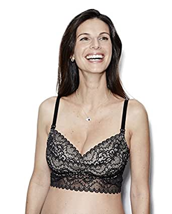 The Dairy Fairy Ayla: Underwire Nursing and Hands-Free Pumping Bra, X-Small / 1, Black