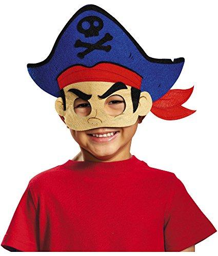 Disguise Captain Jake Felt Mask Costume, One Size