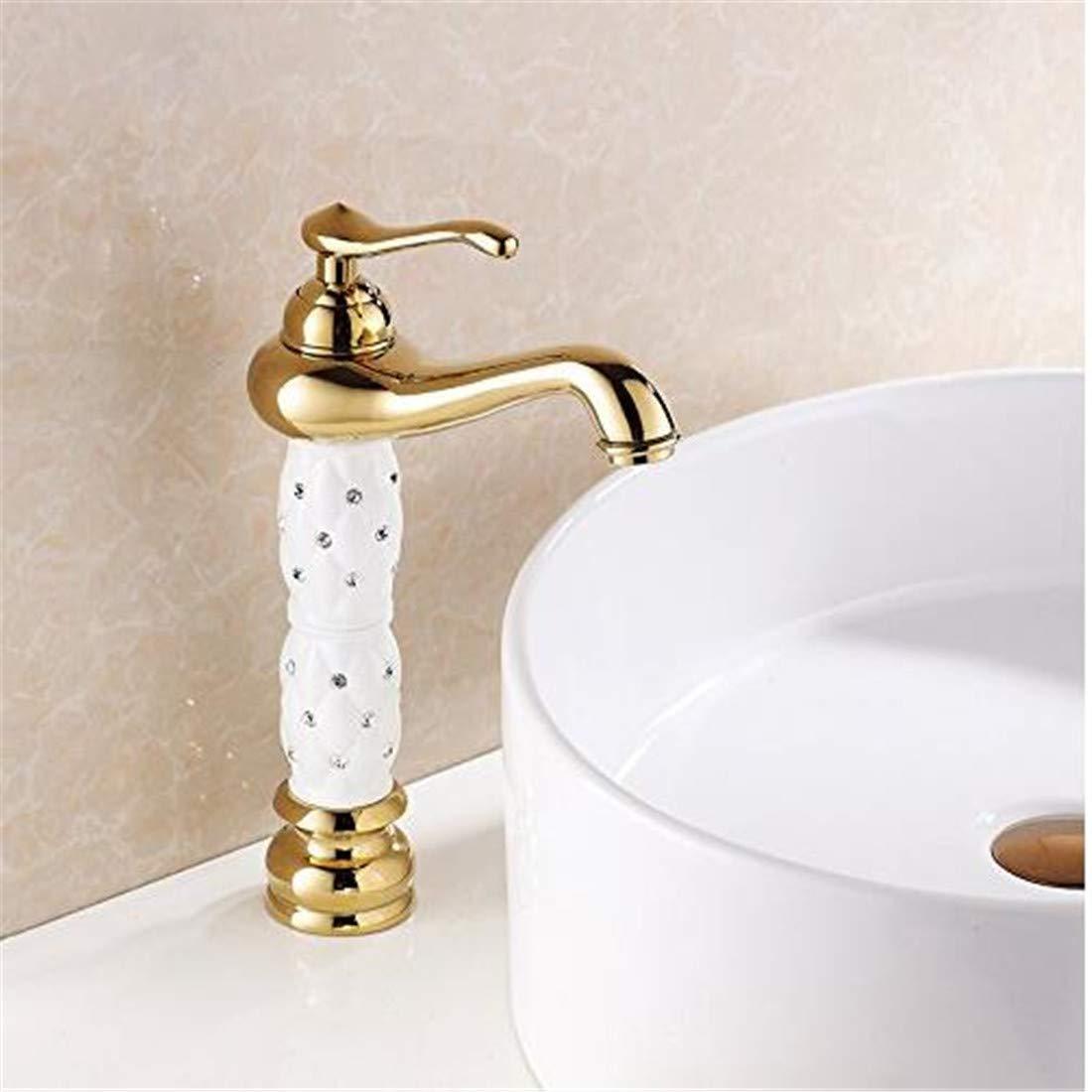 Mischbatterie Brause Drehbar Bad Spültisch Bad Waschtisch Wasserhahn Gold Messing Einhebel Waschtischmischer