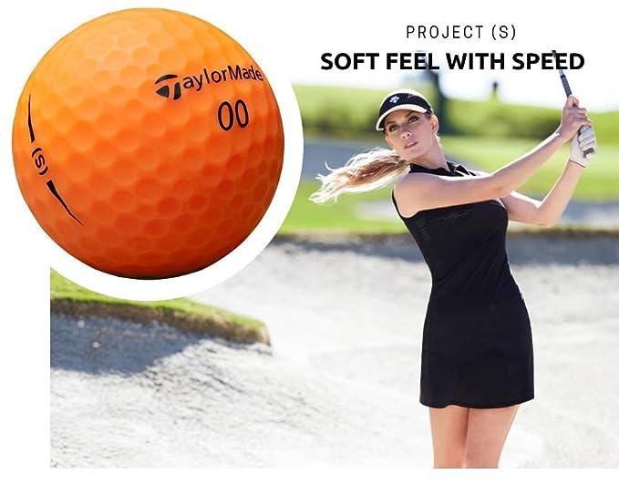 TaylorMade Project(s), [Bola de Golf Naranja Matte Multicapa ...