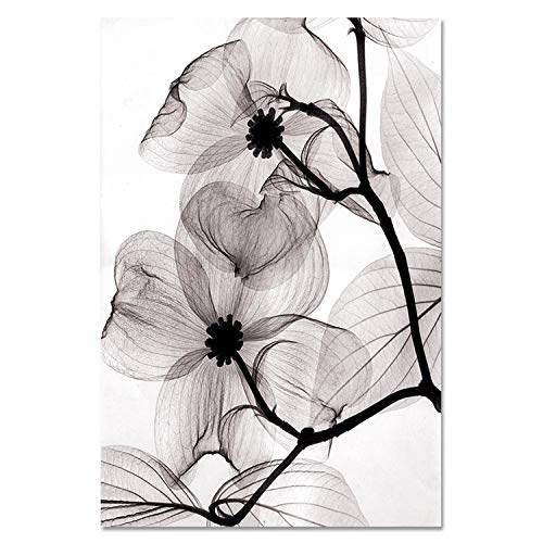 - lovehouse21 Canvas Painting Flower Wall Art Picture Modern Minimalist Print Poster Nordic Style Print Home Decor Picture Painting,15X20Cm No Frame,2