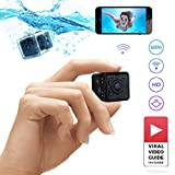 Waterproof Mini Wireless Spy Camera 1080p HD by YoVive with Viral Video Guide and Accessories Pack - Indoor and Outdoor CCTV Action Camera - Hidden Security Monitoring Dash Cam