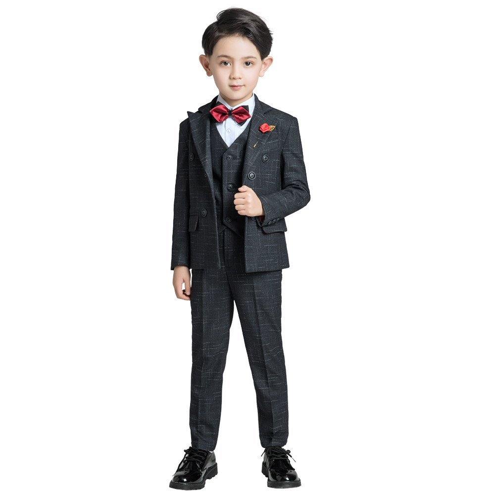 Yuanlu Boy Tuxedo Suits Peak Lapel Blazer Outfit for Wedding