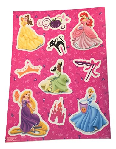 Disney Princess Halloween Color-Cling Window Cling ~ Happy Halloween (10 Clings, 1 Sheet) -