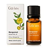 Bergamot Essential Oil 10 ml - 100% Pure, Undiluted, Natural & Therapeutic Grade for Aromatherapy, Skin and Relaxation - Gya Labs