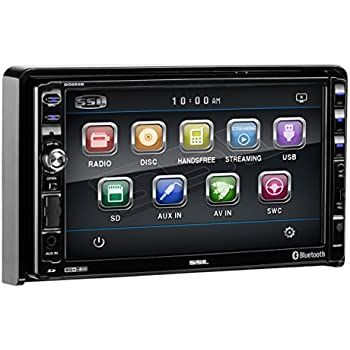 """Sound Storm DD889B Double Din Bluetooth, DVD/CD/MP3/USB/SD AM/FM Receiver, 7"""" Detachable Widescreen Touch Screen Digital Monitor, Wireless Remote"""