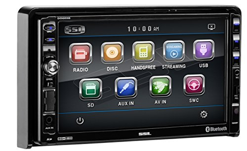 Sound Storm DD889B Double Din Bluetooth, DVD/CD/MP3/USB/SD AM/FM Receiver, 7
