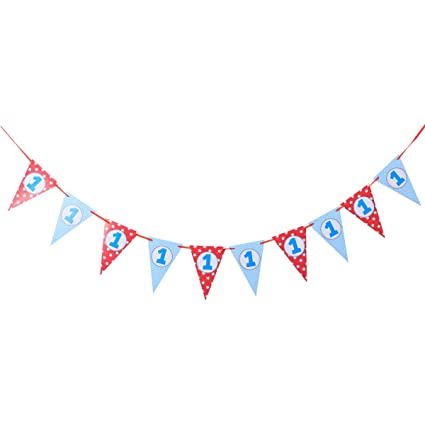 BESTOYARD Cumpleaños Bunting Banner Cute Paper Burgee ...