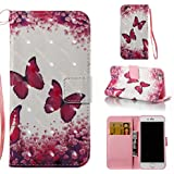 iPhone 6S/6 Case,[Durable] Kickstand Case PU Leather Flip Cover Anti Scratch and Anti Slip Credit Card Holder Case with Magnetic Closure Creative Birthday Gift for Apple iPhone 6S/iPhone 6