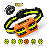 [Newest 2019]Dog Bark Collar-5 Adjustable Sensitivity and Intensity Levels-Dual Anti-Barking Modes-Rechargeable/Rainproof/Reflective -No Barking