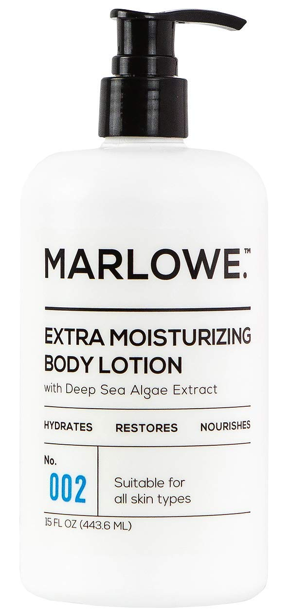 MARLOWE. 002 Extra Moisturizing Body Lotion 15 oz | Daily Lotion for Dry Skin for Men and Women | Light Fresh Scent | Made with Natural Ingredients | Vegan & Cruelty-Free by MARLOWE. M BLEND